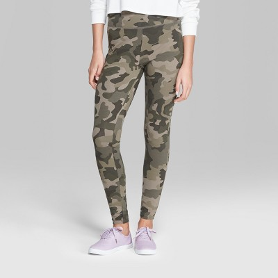 Women's Camo Print High-Rise Leggings - Wild Fable™ Green