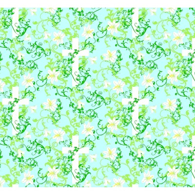 """Easter Cross, Blue, 100% Cotton, 43/44"""" Width, Fabric by the Yard"""