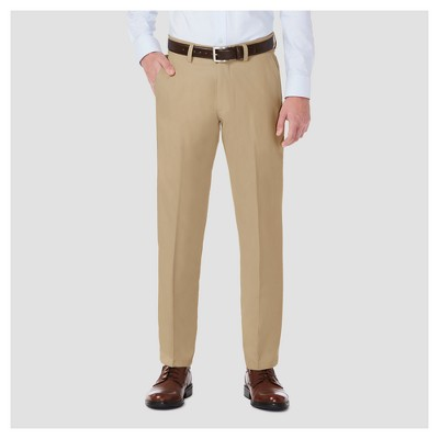 Haggar H26® Men's Performance 4 Way Stretch Straight Fit Trouser Pants - Khaki 38x32