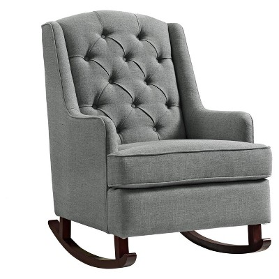 target white rocking chair folding canopy with footrest baby relax zoe tufted gray