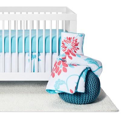 Sweet Jojo Designs Emma 11pc Crib Bedding Set - Turquoise & Pink