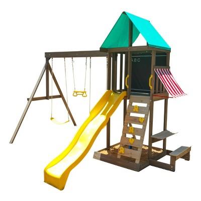kidkraft newport wooden swing