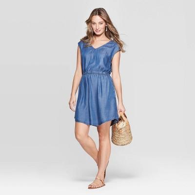 Women's Sleeveless V-Neck Cinched Waist Dress - Universal Thread™