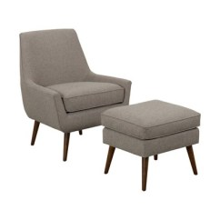 Brown Accent Chair With Ottoman Adirondack Chairs From Recycled Plastic Dean Modern Light Homepop Target