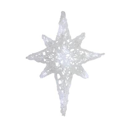 """J. Hofert Co 24"""" LED Lighted White Twinkle Hanging Star of Bethlehem Christmas Decoration"""