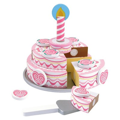 Melissa & Doug® Triple-Layer Party Cake Wooden Play Food Set