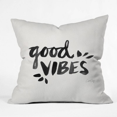 cat coquillette good vibes throw pillow deny designs