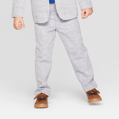 Toddler Boys' Chambray Chino Suit Pants - Cat & Jack™ Gray