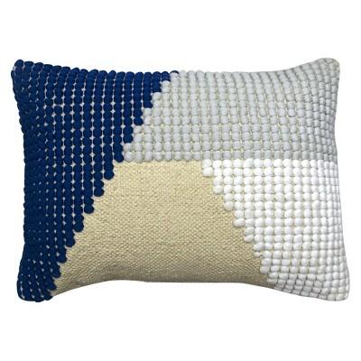 Textured Knob Lumbar Pillow  BlueWhite  Project 62
