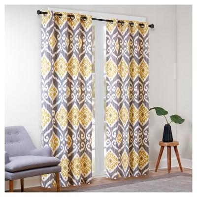 Catori Printed Ikat Window Curtain Panel