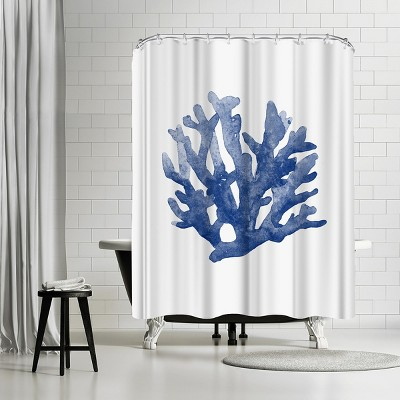 americanflat blue coral 3 by nuada 71 x 74 shower curtain