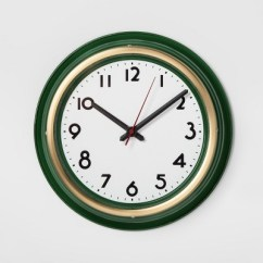 Target Clocks Living Room Indian Furniture Large Wall Clock Green Threshold