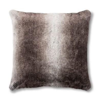 neutral faux fur throw pillow threshold