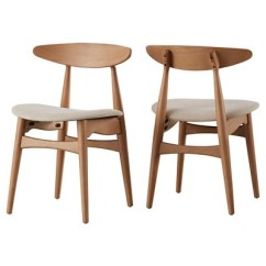 Danish Dining Chair Lounge Size Cortland Modern Natural Set Of 2 Inspire Q