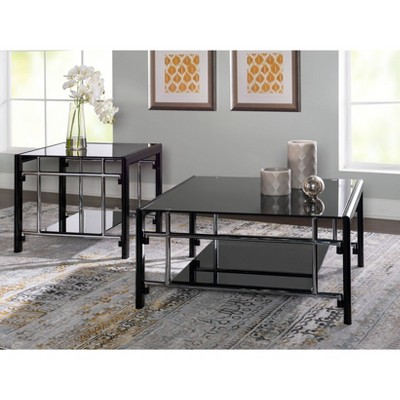 2pc saroyan coffee and end tables set black powell company