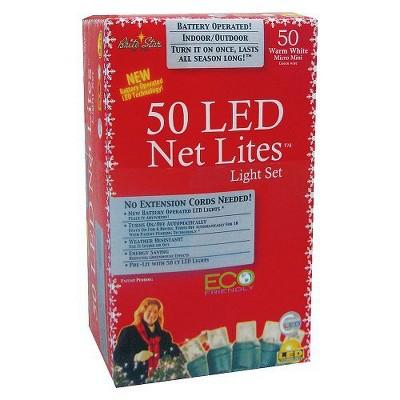 50ct LED Net Lights - Warm White