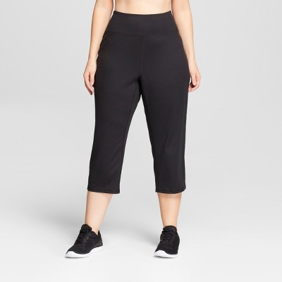 Women's Plus Size Freedom Relaxed Mid-Rise Capri Leggings - C9 Champion® Black 3X