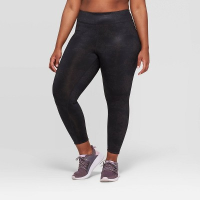 Women's Plus Size Performance reversible Mid-Rise 7/8 Printed Leggings  - JoyLab™