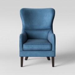 Blue Wing Back Chair Dentist Torenia Velvet Wingback Opalhouse Target