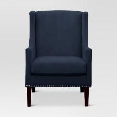 Target Blue Chair Comfortable Office Jackson Wingback Velvet Navy Threshold