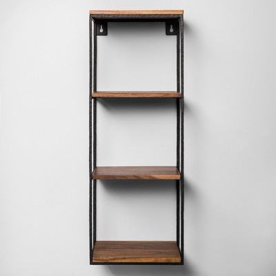 Decorative Wall Shelf Black/Wood - Hearth & Hand™ with Magnolia