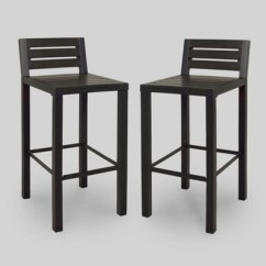 Outdoor Bar Chairs Swivel Camp Chair Bryant 2pk Faux Wood Patio Stool Black Project 62 Target