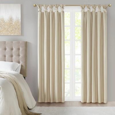 120 x50 lillian twisted tab lined light filtering curtain cream