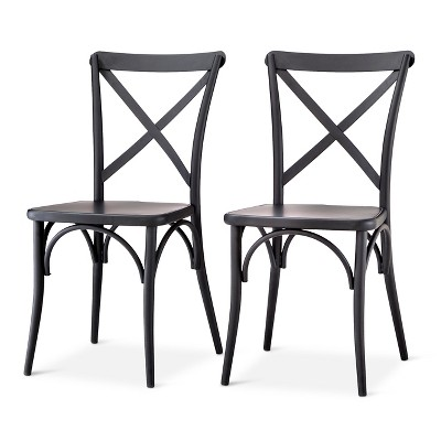 metal bistro chairs mid century childrens table and set of 2 malden french dining chair black threshold target
