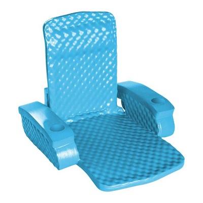 pool chair floats target bedside commode trc recreation super soft baja swimming folding foam lounge float