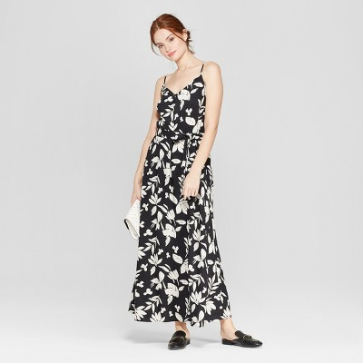 Women's Floral Print Sleeveless Maxi Dress - A New Day™ Black