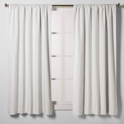63 x42 heathered thermal room darkening curtain panel white room essentials