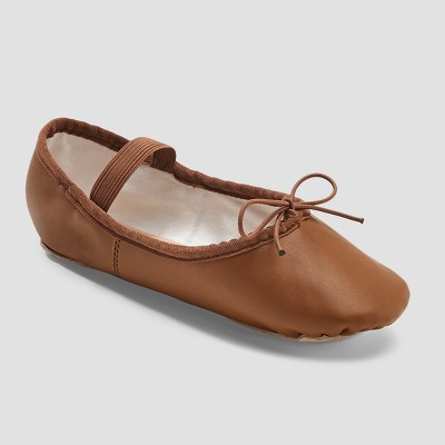 Freestyle by Danskin Girls' Ballet Shoe - Brown