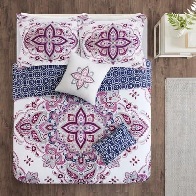 5pc Dorrie Reversible Print Comforter Set