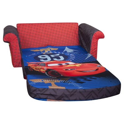 cars sofa chair restoration hardware leather for sale marshmallow furniture children s 2 in 1 flip open foam disney pixar by spin master target