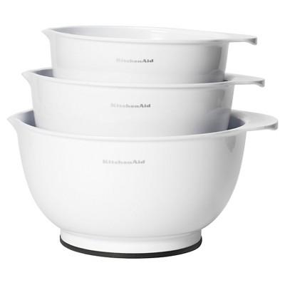 KitchenAid Classic Mixing Bowls Set of 3 White