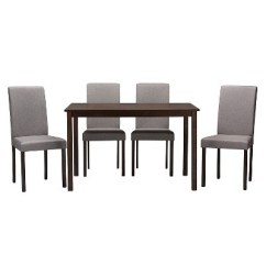 Dining Chairs Set Of 4 Target Swivel Chair Keeps Turning Andrew Contemporary Gray Baxton Studio