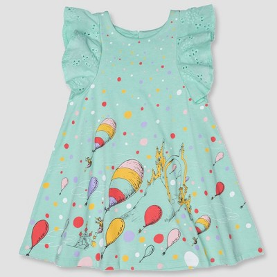 Toddler Girls' Dr. Seuss A-line Dress - Aqua