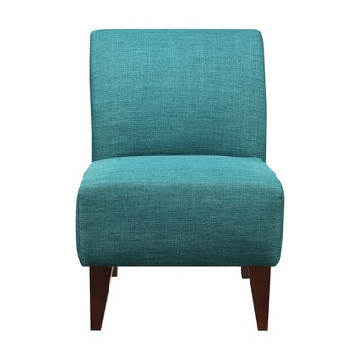 teal colored chairs small upholstered chair north accent slipper blue picket house furnishings target