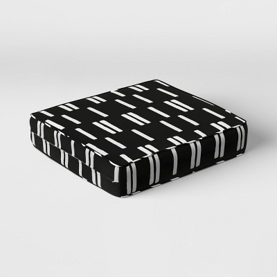 stripe outdoor deep seat cushion duraseason fabric black white project 62