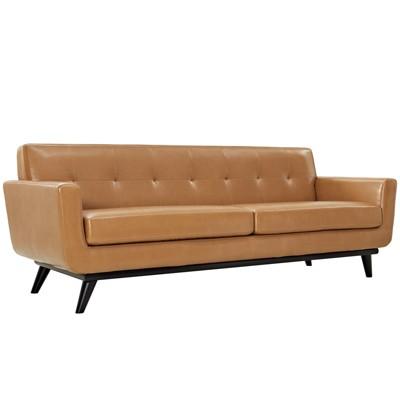 Engage Bonded Leather Sofa - Modway