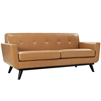 Engage Bonded Leather Loveseat - Modway