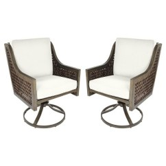 Swivel Rocker Outdoor Dining Chairs Good Office Chair Fabron 2pk Wicker Threshold Target