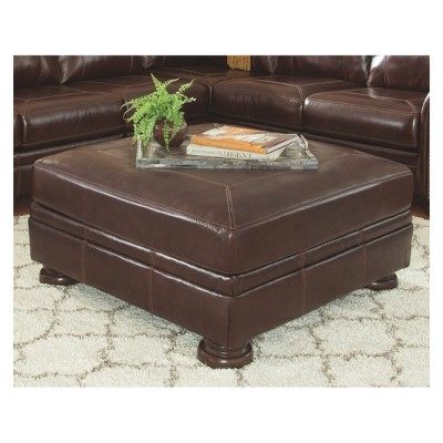 banner oversized accent ottoman coffee signature design by ashley target