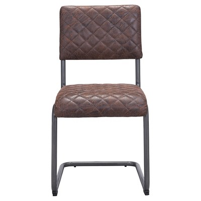 distressed dining chairs cheap papasan for sale upholstered and dark steel chair set of 2 zm home target