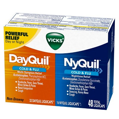 Vicks DayQuil and NyQuil Cold & Flu Relief Combo Pack ...