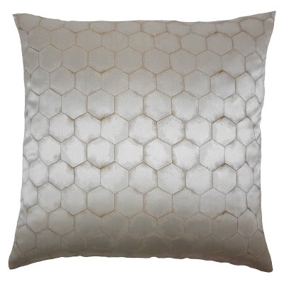 """Gray Stripe Square Throw Pillow (20""""x20"""") - The Pillow Collection"""