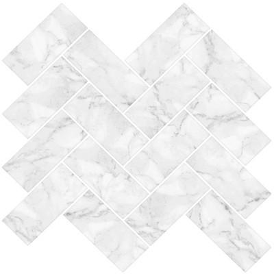 brewster herringbone carrara peel stick wallpaper backsplash white