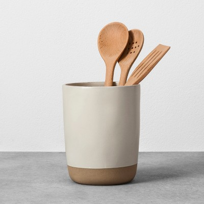 kitchen tool holder cupboard knobs stoneware utensil cream hearth hand with magnolia target