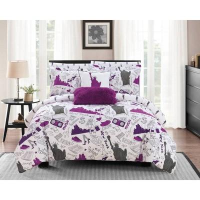 Chic Home Design Ellis Bed In A Bag Comforter Set