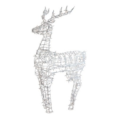 """Northlight Lighted Standing Reindeer Outdoor Christmas Decoration w/ Warm White LED Lights - 60"""""""